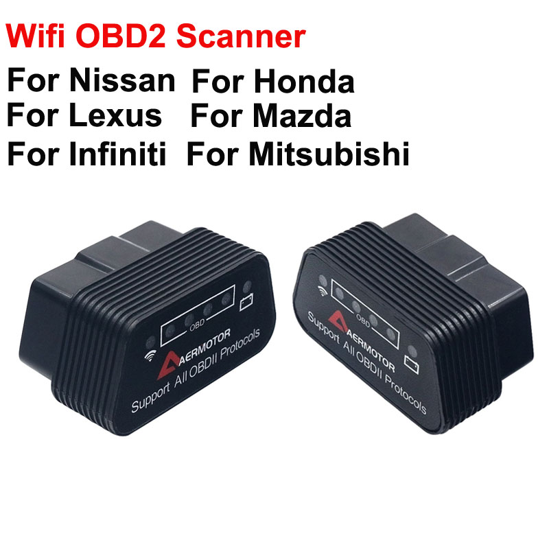 White Keenso ELM327 OBD2 Wifi Adapter Bluetooth Diagnostic Tool Wifi OBDII Scanner Code Reader V1.5 Code Reader Diagnostic Scanner for Both Android//IOS Windows PC