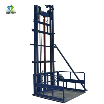 Material Lifting Elevator Vertical Cargo Lift with 3m~6m Lifting