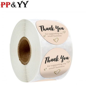 100-500pcs Hundred Flowers Competing Beautiful Thank You Sticker Seal Label Custom Scrapbook Gift image