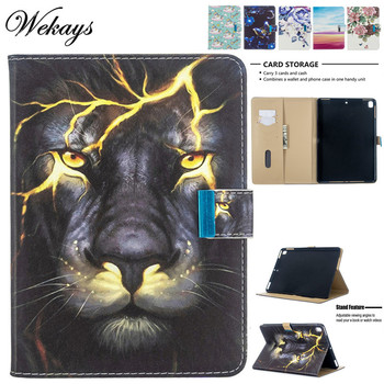 Wekays Coque For Apple Ipad Air 2 Ipad 6 A1566 A1567 Cartoon Lion Leather Case For Ipad Air 2 Ipad6 Cover Cases sFor Ipad Air2 wekays for apple ipad mini 4 cute cartoon unicorn leather fundas case sfor coque ipad mini 4 tablet cover cases for ipad mini4