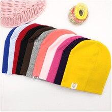 Новая детская шапка в стиле хип-хоп для уличных танцев, хлопковая шапка для малышей на весну и осень, шарф для мальчиков и девочек, зимняя теплая одноцветная детская шапка