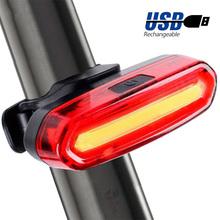 120 lumenów tylne światło rowerowe USB akumulator kolarstwo tylne światło led wodoodporne światło tylne roweru MTB migające dla rowerów tanie tanio GENIU Bicycle Flashing Light Sztyca Battery