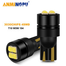 Anmingpu 2x сигнальная лампа t10 w5w светодиодный canbus 168