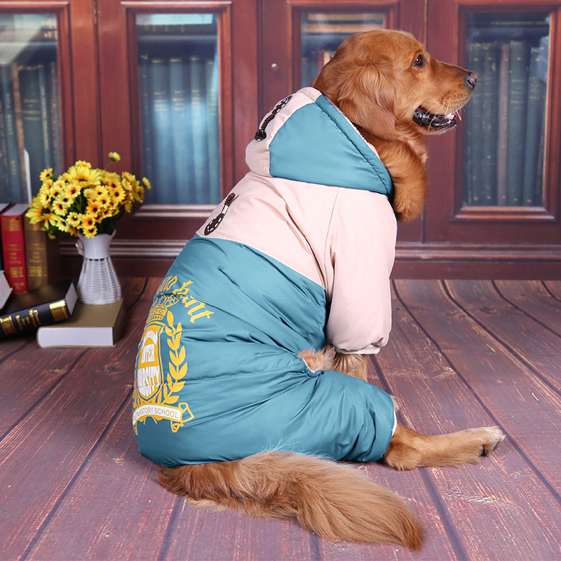 Осенне зимние теплые четырехногие куртки золотой ретривер/Аляска  маламут/самоед средних и больших собак аксессуары для одеждыПальто и  куртки для собак