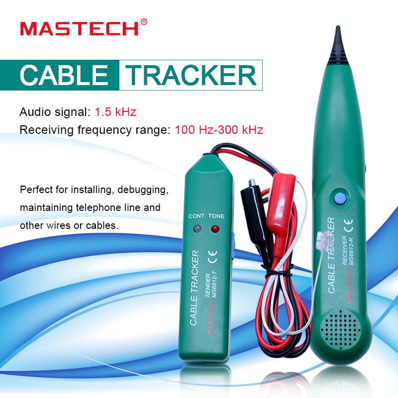 Telephone Phone Wire Electroinic Network Cable Tester Line Tracker for MS6812