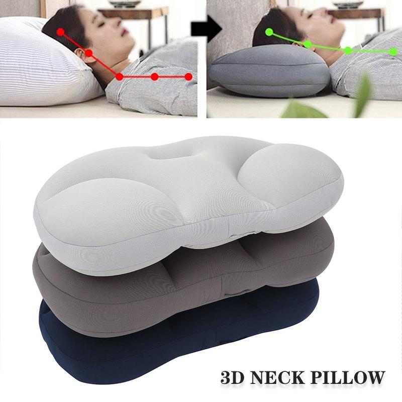 3D Neck Pillow Creative Neck Head Rest Deep Sleep Air Cushion Pressure Relief Pillows Washable Pillowcase Home Textile