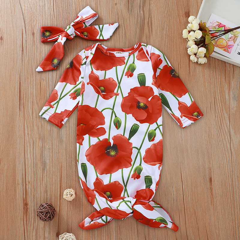 2019 Baby Mermaid Sleeping Bag Baby Long Sleeve Wearable Blanket Floral Sleep Sack Swaddle And Headband Toddler Cotton Bedding