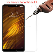 2PCS 9H Tempered Glass for Xiaomi Pocophone F1 Ultra-thin Screen Protector Xiomi F2 Film Little Poco F1Glass