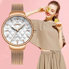 SUNKTA Brand Luxury Watch Women Fashion Gift Dress Quartz Wrist Watch Ladies Stainless Steel Waterproof Watches Relogio Feminino