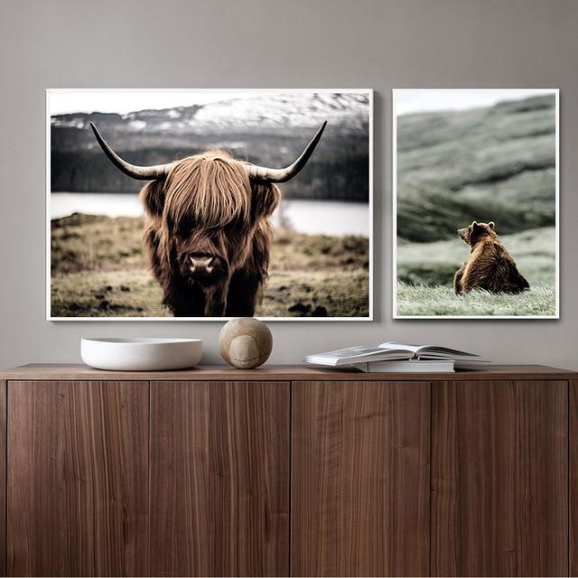 Wild Animal Wall Poster