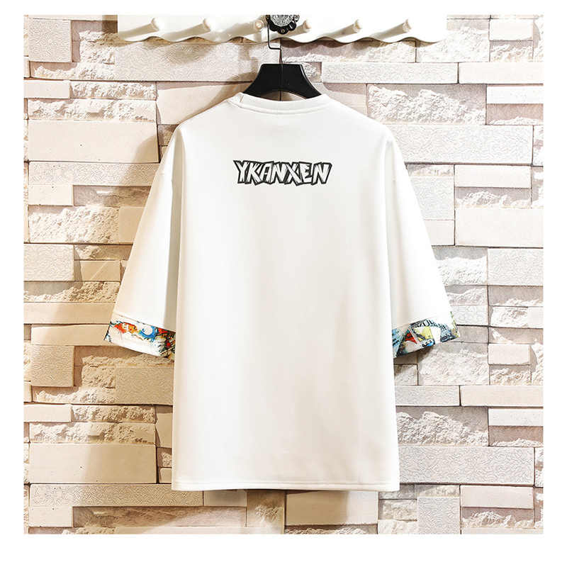 Lengan Pendek T Shirt Pria 2020 Musim Panas Kualitas Tinggi Tshirt Top Tees 3D Cetak Merek Fashion Pakaian Plus Ukuran M-5XL 6XL 7XL O Leher