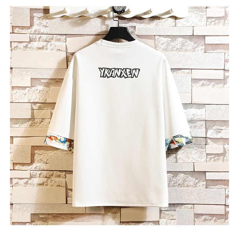 半袖tシャツ男性2020夏の高品質tシャツトップtシャツ3Dプリントブランドファッション服プラスサイズM-5XL 6XL 7XL oネック
