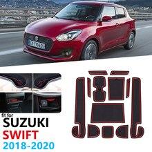 Tapete de porta antiderrapante de borracha, tapete de revestimento para porta de suzuki swift 4 2018 2019 2020 zc33s acessórios do carro da esteira do copo