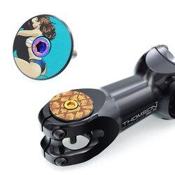 Tampa de headset de bicicleta, tampa de liga de alumínio para mountain bike e estrada, parafuso de aço inoxidável 28.6 para garfo m6x30mm