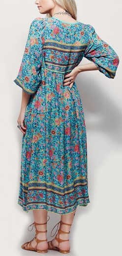 Print Floral Flower Long Maxi Boho Bohemian <font><b>Dress</b></font> Women 2019 Summer <font><b>Dress</b></font> <font><b>Sexy</b></font> Casual Retro Vintage <font><b>Dress</b></font> <font><b>Big</b></font> Plus <font><b>Size</b></font> 5XL XXXL image