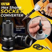 Hex Shank Socket Converter Quick Release Screwdriver Holder Impact Socket Conversion Adapter Tool for Screwdriver