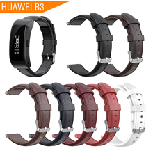 цены на 2019 Leather Wrist Band Bracelet Strap for Huawei B3 Strap Smart Watch Wristband Replacement Bracelet for Huawei B3 Accessories  в интернет-магазинах