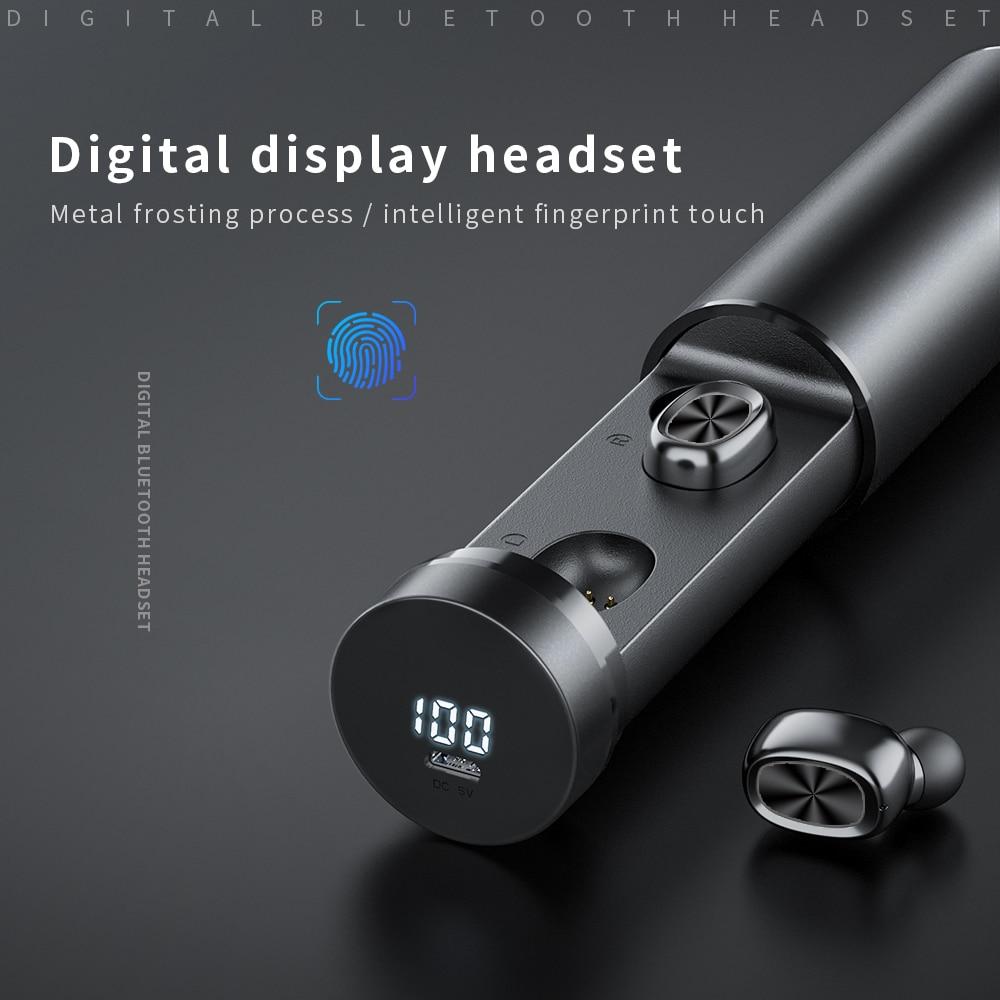 Bluetooth Earphones Wireless Two Ears Sports Running Mini Music Earphones HiFi IPX7 Waterproof earbuds Touch Control Headset for