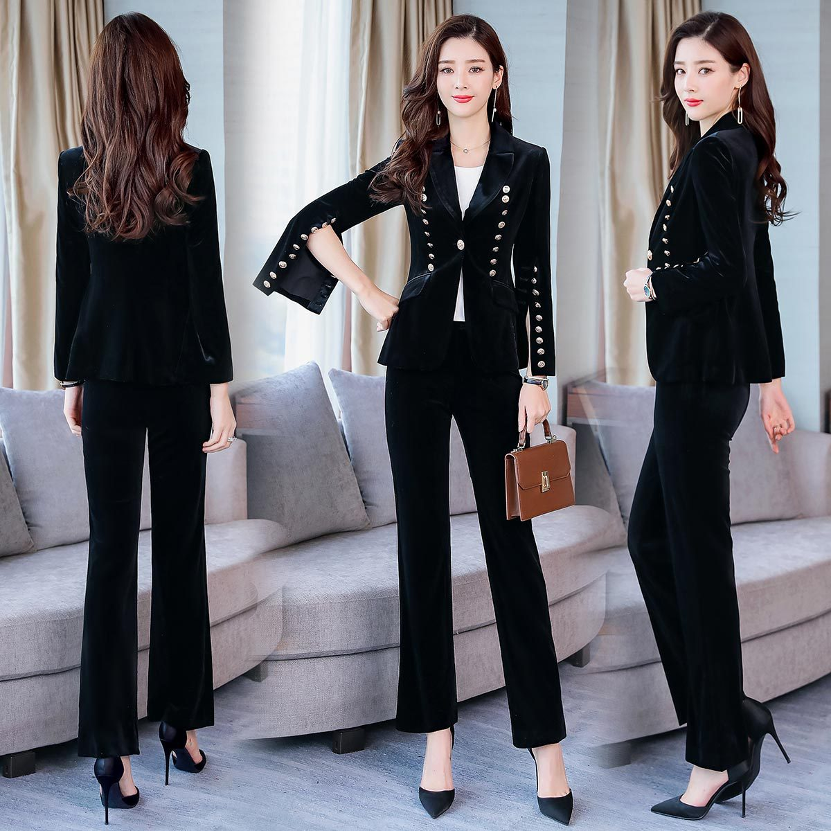 Ya Elegant Set/Suit Skirt 2019 Autumn Casual Fashion Simple Cool Excellent