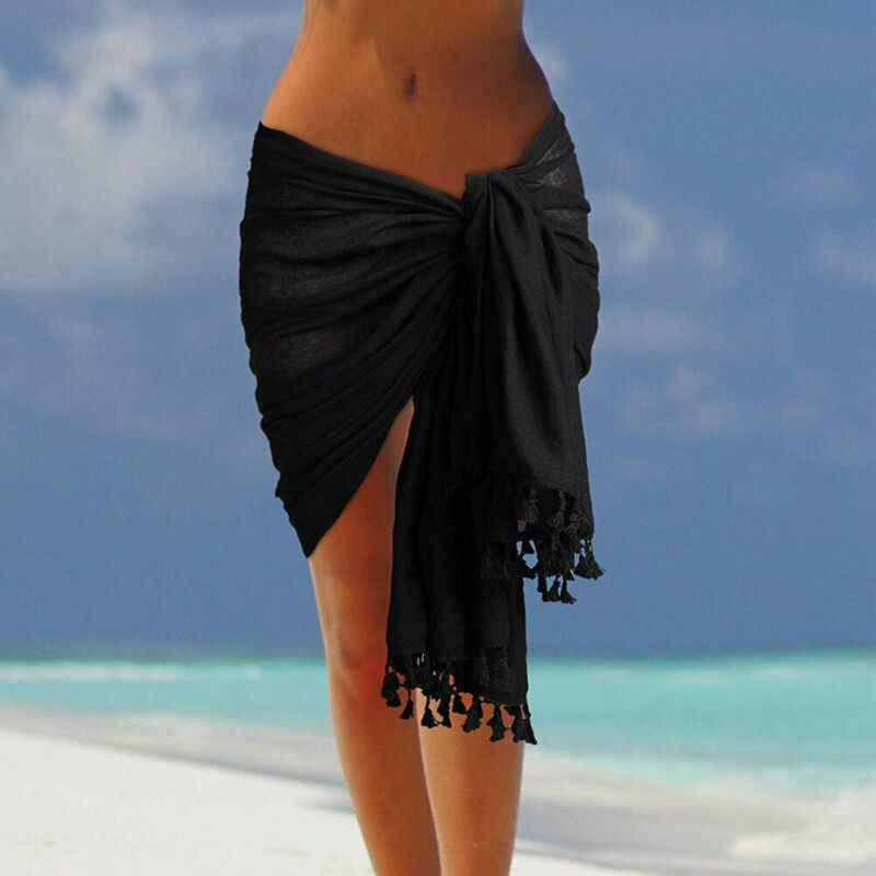 女性のセクシーなビーチスカートのビーチのドレスセクシーなビーチサロンビキニカバーアップスカート女性タオルオープンバックビーチカバーアップ