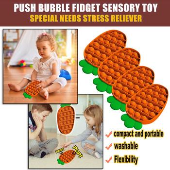 1-4PC Push Pop Bubble zabawka sensoryczna RadishPush Bubble Fidget zabawka sensoryczna autyzm specjalne potrzeby Stress Reliever dzieci zabawka sensoryczna tanie i dobre opinie CN (pochodzenie) Stress Reliever Toy Chiny certyfikat (3C) 8 ~ 13 Lat 14 lat i więcej 2-4 lat 5-7 lat Dorośli Zwierzęta i Natura