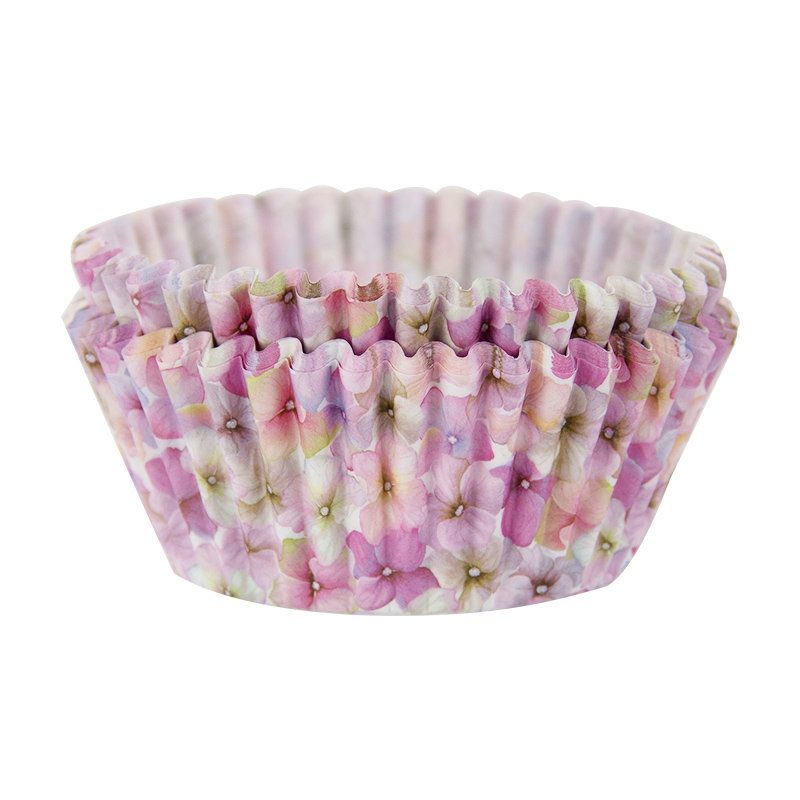 40PCS Pink Floral Paper Cake Muffin Moulds Chocolate Cupcake Liner Baking Cup Mold Bowl Birthday Party Wedding DIY
