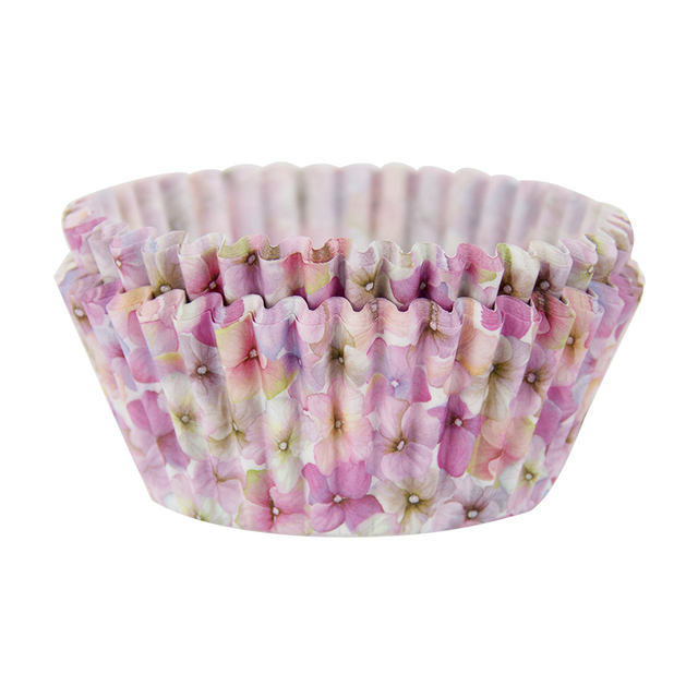 Pink Floral Printed Cupcakes Baking Bowl Set 40 Pcs