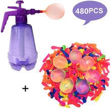 Zabawny balon wodny pompownia z 500 balon wodny s i pompa wodna inflacja piłka dla dzieci urodziny bomba losowy kolor
