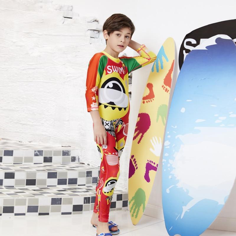 KID'S Swimwear Boy One-piece Big Boy Quick-Dry Sun-resistant Diving Suit Girls Baby Small CHILDREN'S BOY'S Hot Springs Swimwear