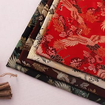 Vintage brocade jacquard sewing garment fabrics designer for patchwork cheongsam and kimono seams