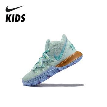 ナイキ Kyrie5 子供靴エアクッション蛇行子供の靴 Cn4501-300