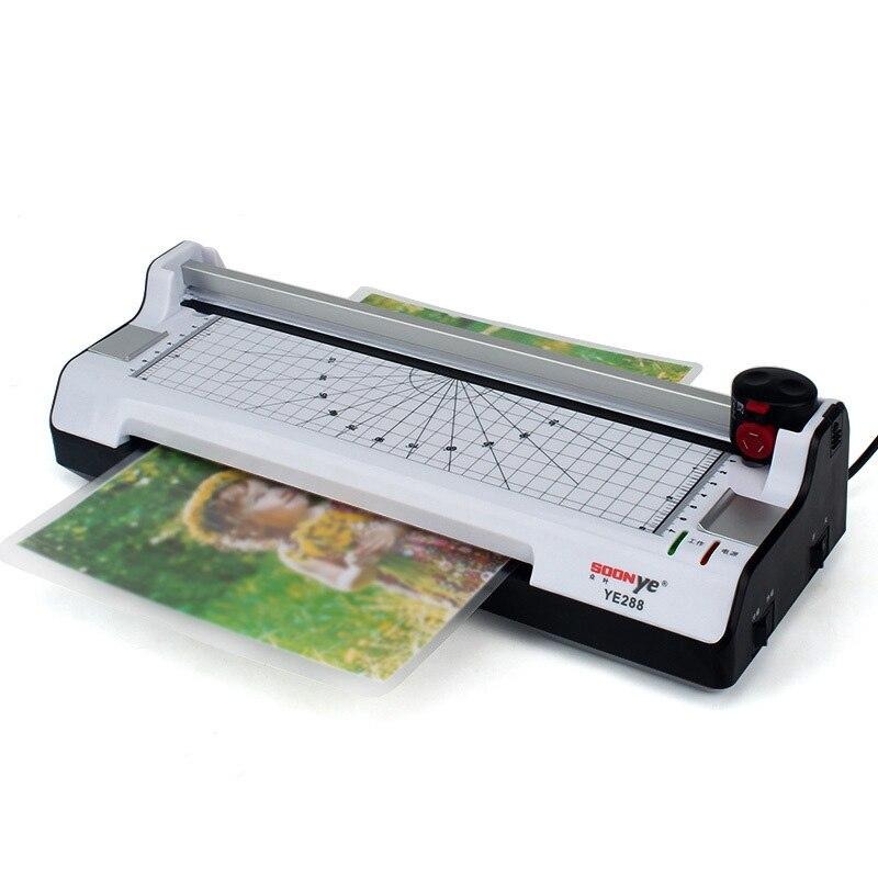 Machine de stratification thermique chaude et froide de papier Photo A4 vitesse de stratification rapide d'échauffement rapide avec la prise de l'ue de panneau de poche
