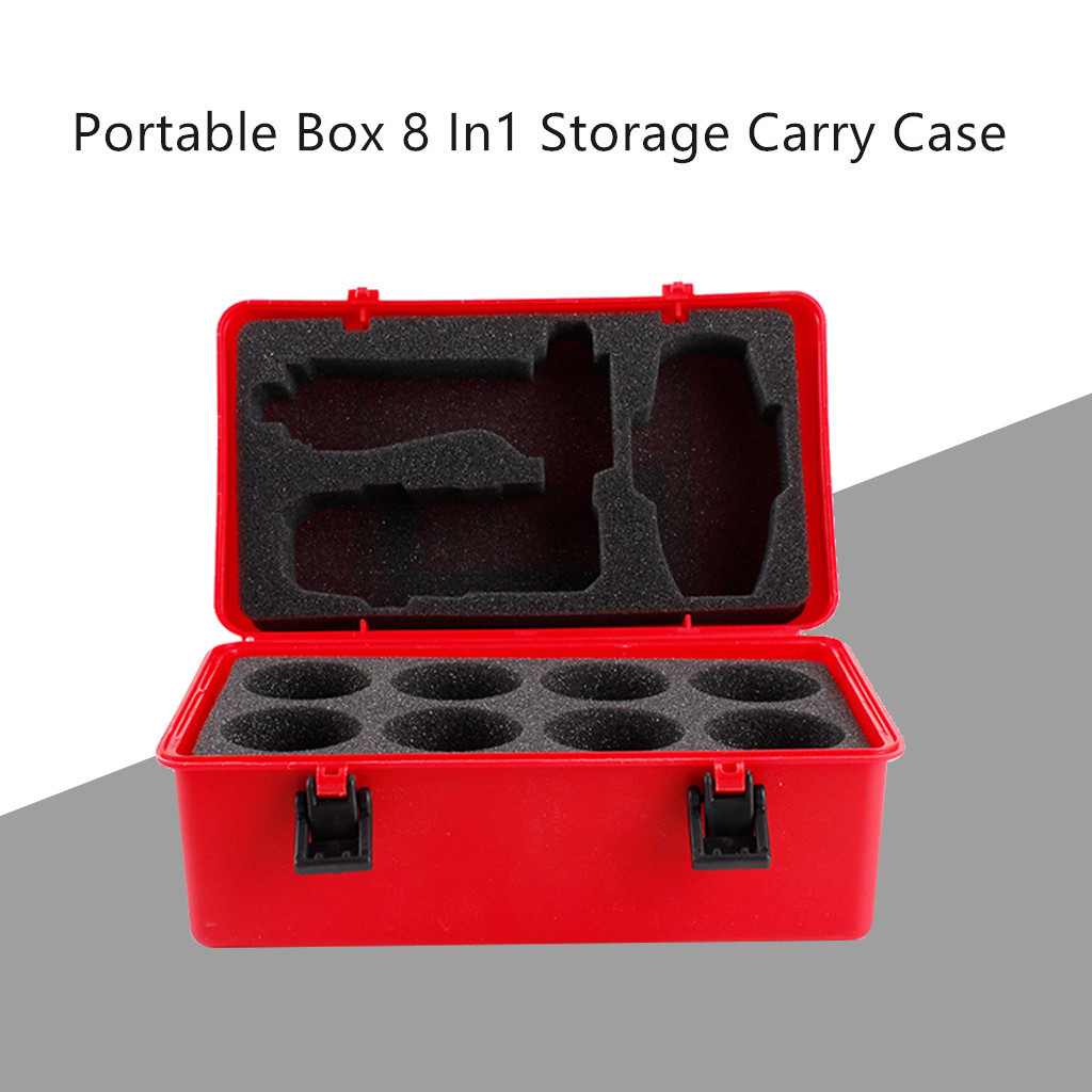 Explosion Top Gyro Combat Gyro Storage Box Waterproof Portable Box 8 In1 Storage Carrying Case For Burst Spinning Top Game L0227