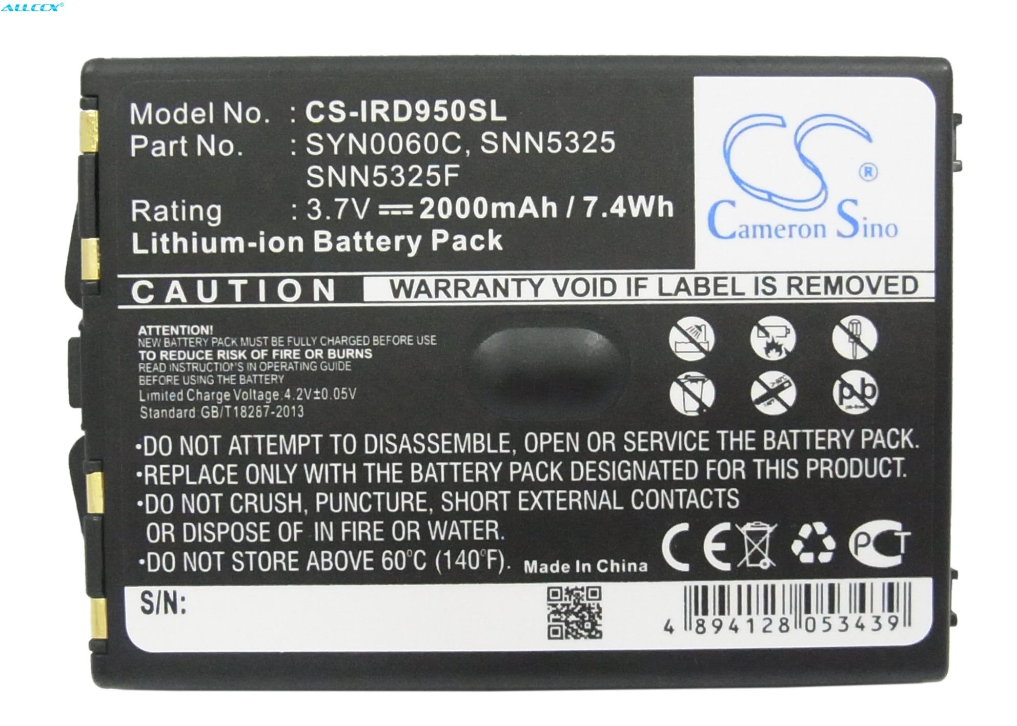 Cameron Sino 2000mAh Battery SNN5325, SNN5325F, SYN0060C for Iridium 9500, 9505(China)
