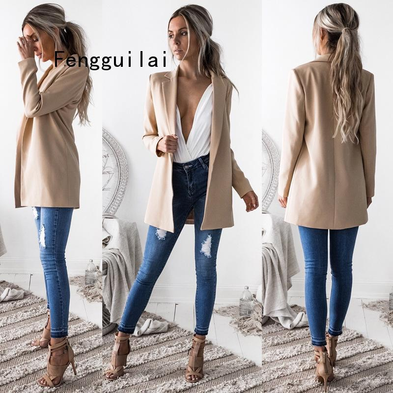 Blazer Suits 2020 Spring Autumn Women's Blazers New Jackets For Women Suit European Style Slim Lapel Green Hot Blazer