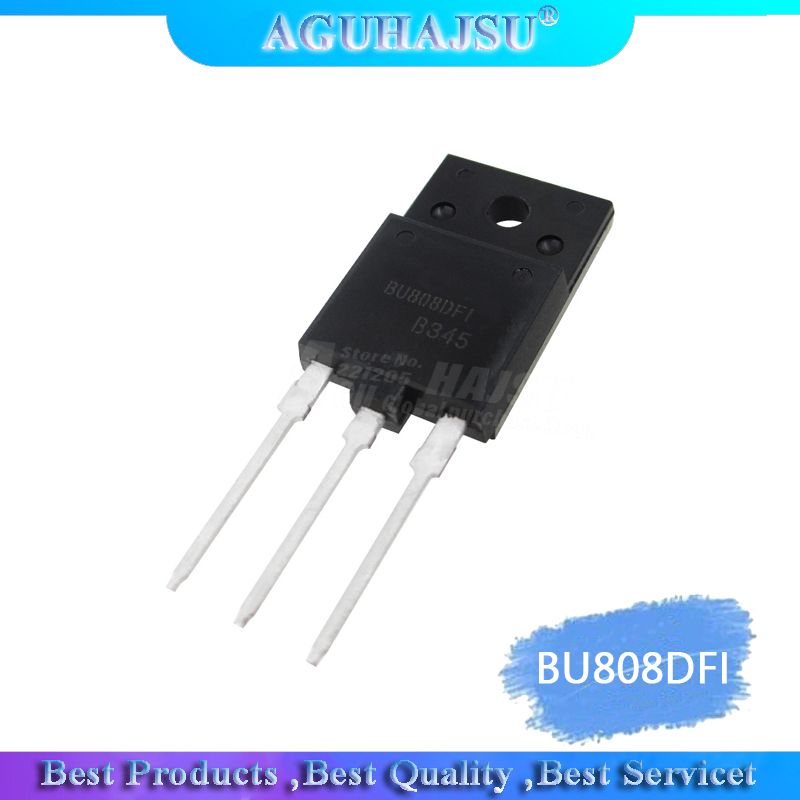 1pcs/lot BU808DFI TO-3PF BU808DF BU808D BU808 TO-3P New Original
