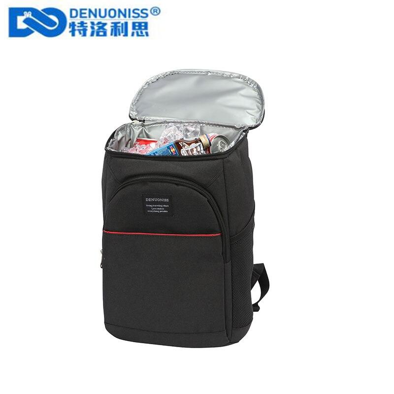 DENUONISS 20L 열 배낭 방수 두꺼운 쿨러 가방 대형 절연 가방 어깨 피크닉 쿨러 배낭