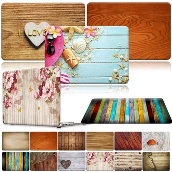 For Apple MacBook Air Pro Retina 11 12 13 15 16 / 13.3 A1369 A1466 Pro 16 A2141/ Air A2179 A1932 - Wood Laptop Shell case cover laptop bag for macbook air 13 2018 model a1932 model laptop case sleeve cover for macbook air 13 3 mac a1369 a1466 notebook case