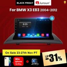 Junsun V1 פרו 2G + 128G אנדרואיד 10 עבור BMW X3 E83 2004   2012 רכב רדיו מולטימדיה וידאו נגן ניווט GPS 2 דין dvd