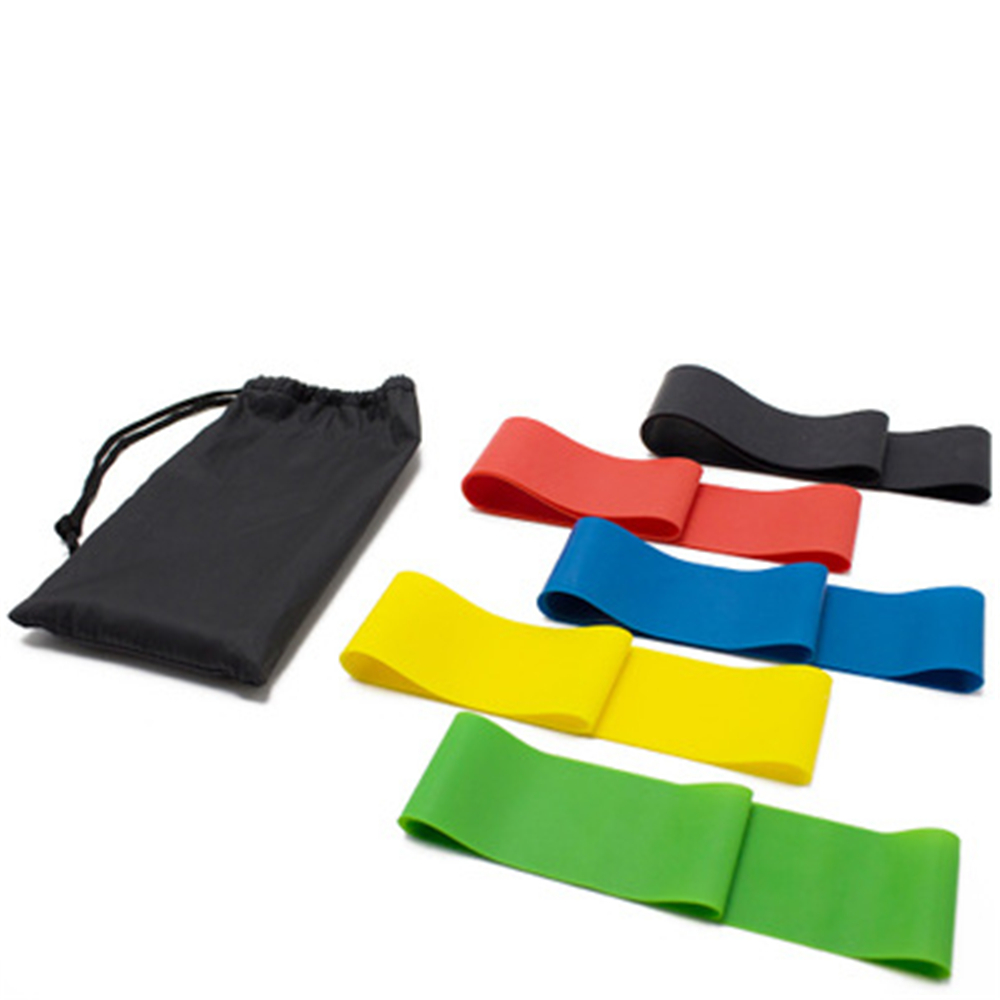 5 Pieces Resistance Bands Set Latex Gym Strength Training Yoga Fitness Workout Equipment Rubber Loops Thick Elastic Bands