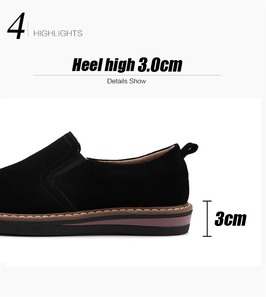 STS BRAND 2019 New Spring Women Flats Sneakers Suede Leather Round Toe Shoes Casual Shoes Women Slip On Flat Loafers Fazz Oxford (5)