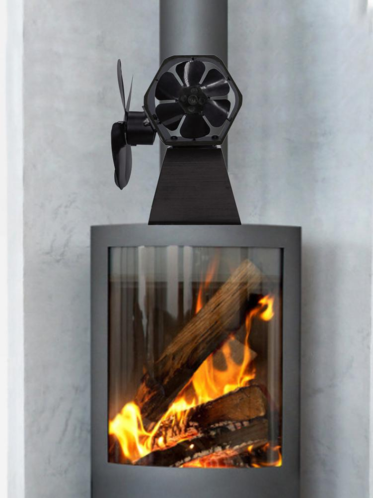 High Quality Europe And America Style Thermal Power Fireplace Fan #CO