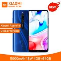 "Global Version Xiaomi Redmi 8 4GB 64GB Smartphone Snapdragon 439 Octa Core 5000mAh 6.22"" 12MP+2MP 18W Quick Charge Mobile Phone"