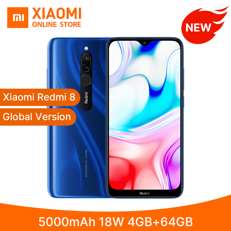 "Global Version Xiaomi Redmi 8 <font><b>4GB</b></font> <font><b>64GB</b></font> <font><b>Smartphone</b></font> Snapdragon 439 Octa Core 5000mAh 6.22"" 12MP+2MP 18W Quick Charge Mobile Phone image"