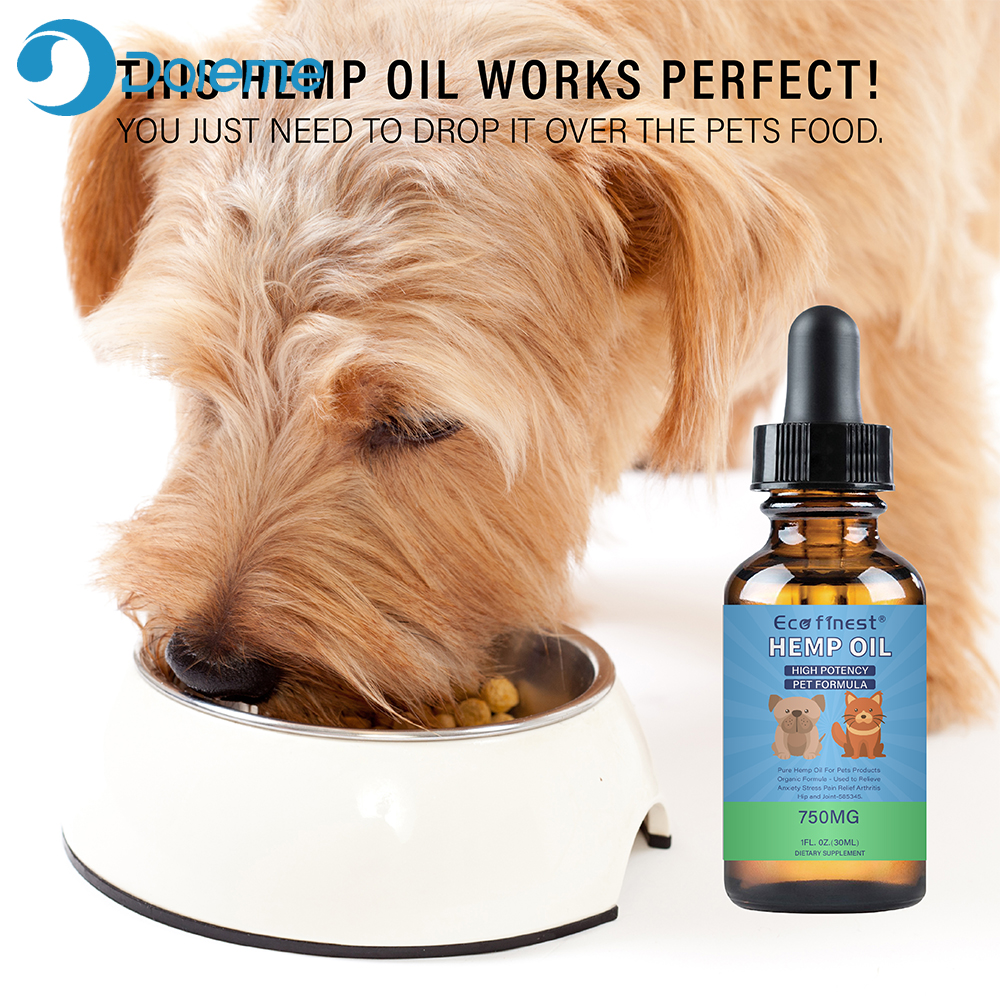 750mg 30ml Hemp Essential Oil for Dogs Natural Herbs of Pet Care Hemp Oil Anxiety Relief Pain Joint hip Strengthens immune image