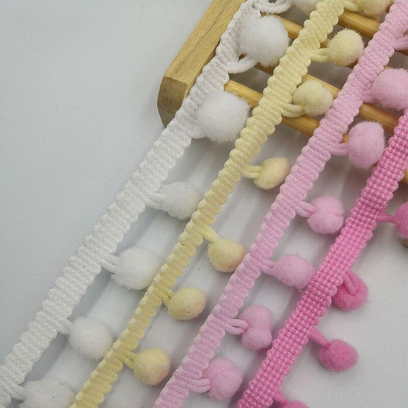YeBetter 20 Yard 10 MM Pompom Trim Ball Fringe Ruban DIY Couture Accessoire Dentelle Noir