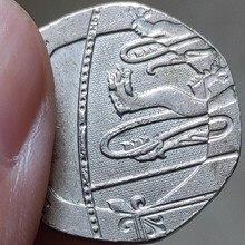 21 мм Британия, настоящая монета, оригинальная коллекция