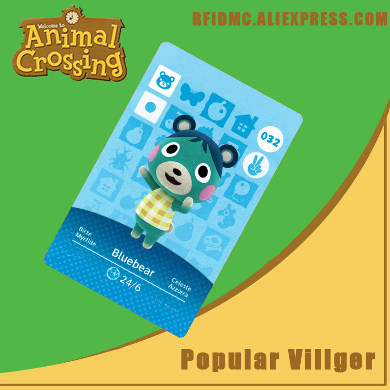 032 Bluebear Animal Crossing Card Amiibo For New Horizons