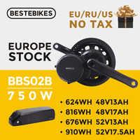 Bafang motor BBS02B 750W 48V bafang 750w bafang mitte antrieb motor elektrische fahrrad motor ebike e- fahrrad elektrische bike conversion kit