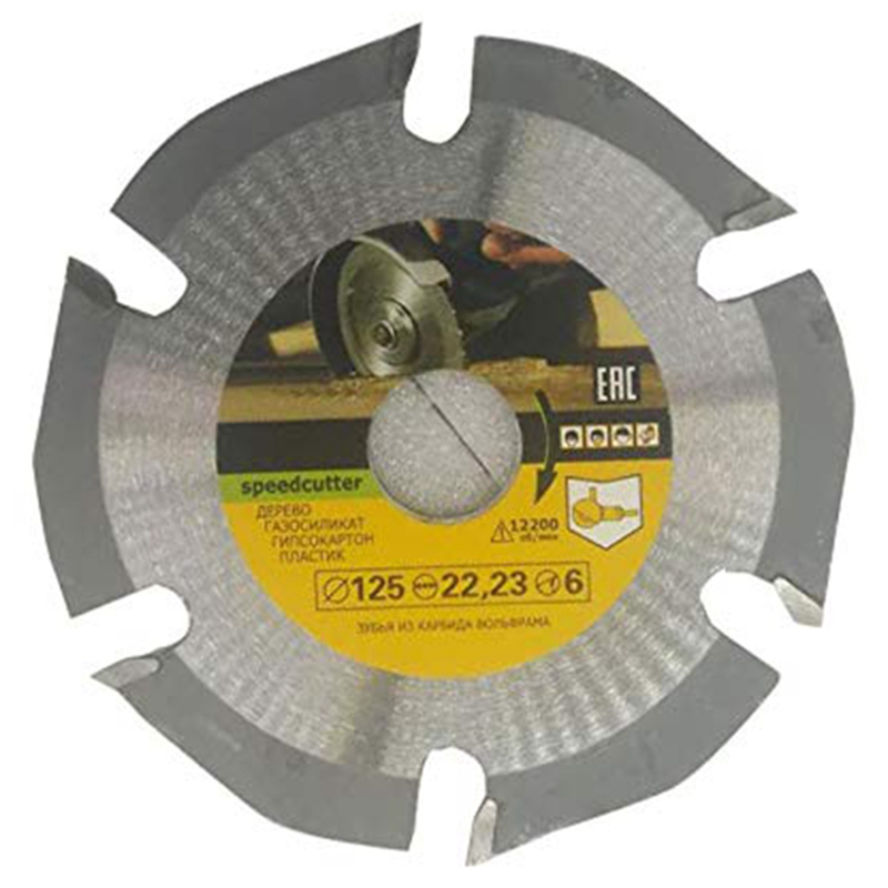 Fashion125mm 6T Circular Saw Blade Multitool Grinder Saw Disc Carbide Tipped Wood Cutting Disc Carving Disc Blades For Angle Gri